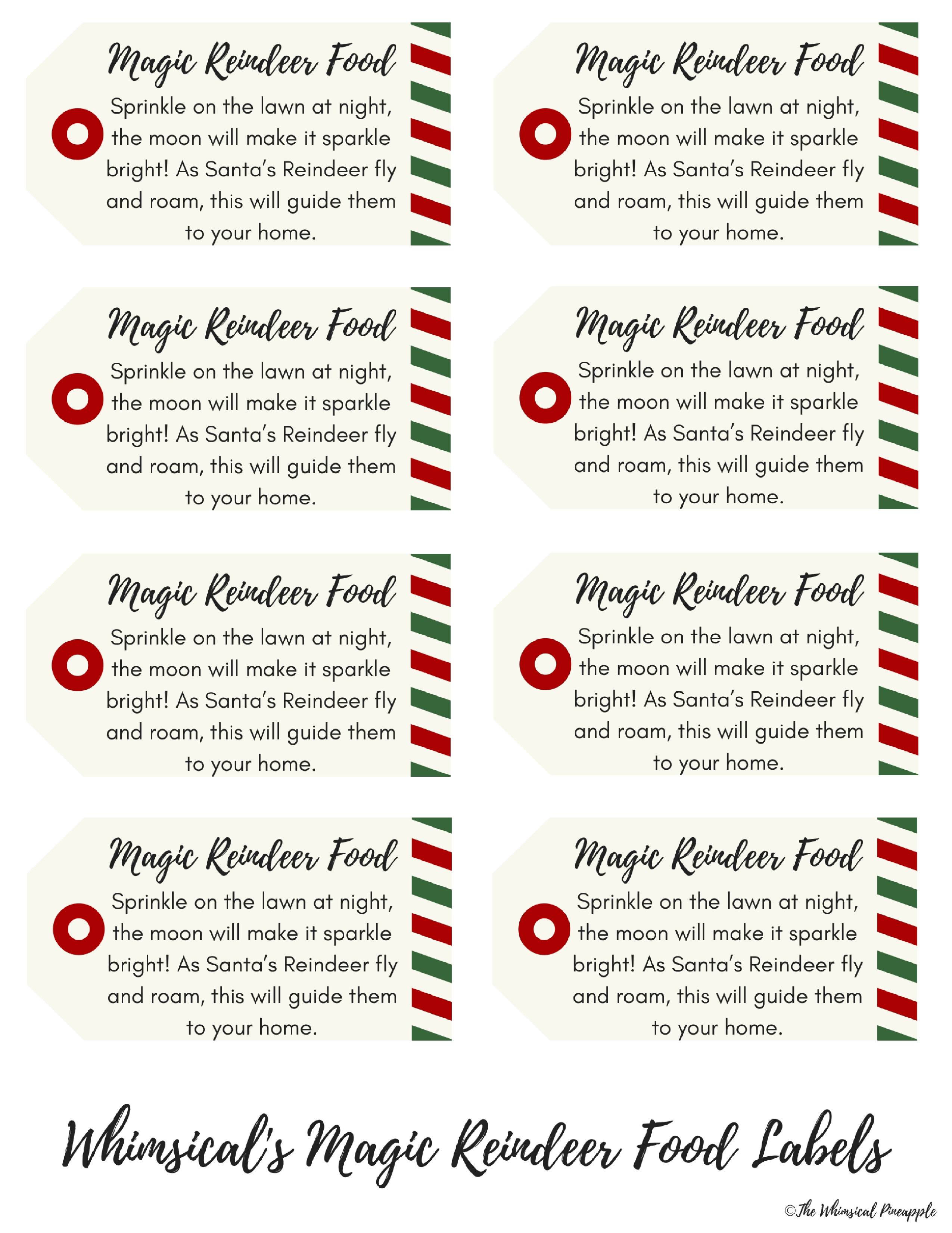 It is a graphic of Rare Magic Reindeer Food Printable